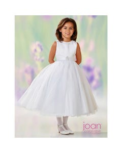 WHITE SATIN DRESS 118312
