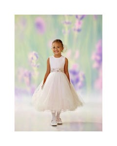 DRESS PINK PLEATED TULLE BODICE BEADED WAISTBAND SPARKLY TULLE SKIRT