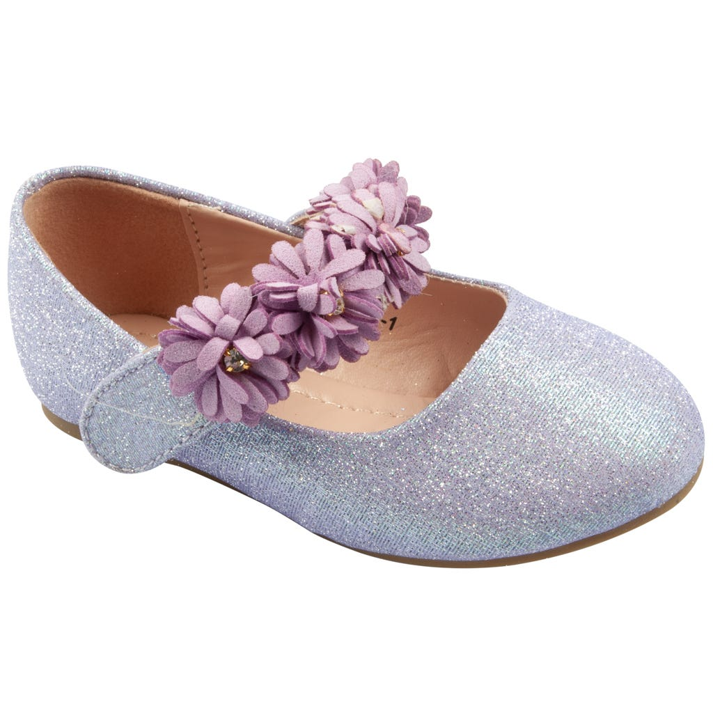 Luxe Kidz Shoes Girls Lavender Flower