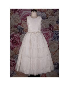 458 DRESS IVORY TULLE & LACE L