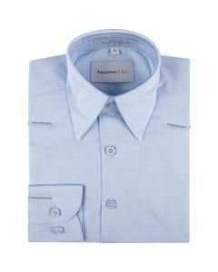 SHIRT LIGHT BLUE THIN STRIPES TONE ON TONE