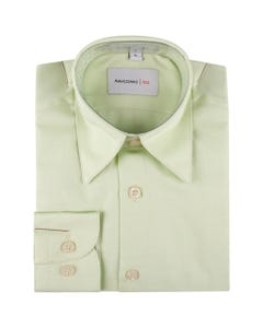 SHIRT LIGHT GREEN THIN STRIPE TONE ON TONE