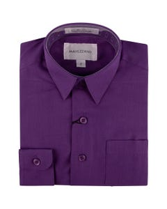 SHIRT PURPLE MC555-562 LONG SLEEVE COTTON