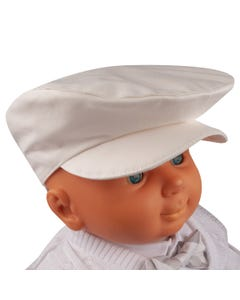 PAPER BOY HAT IVORY COTTON