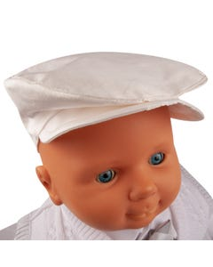 PAPER BOY HAT SILK IVORY