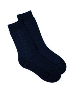 SOCK NAVY COTTON
