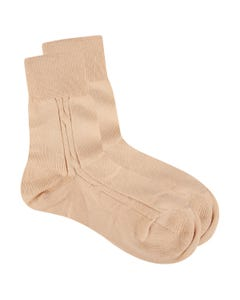 SOCK BEIGE COTTON