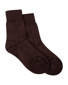 SOCK BROWN COTTON