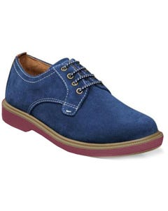 SHOE SUPACUSH PTOX JR NAVY SUEDE WITH LACES