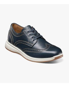 SHOE GREATLAKES WTOX NAVY LACES & STITCHING TRIM