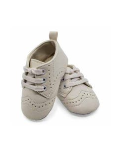 SHOE WHITE WITH LACES SOFT CUT OUT PATTERN TENDER TOES