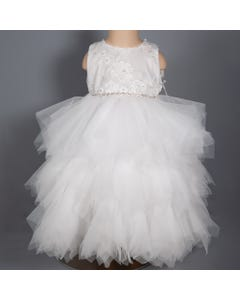 FLOWER TULLE DRESS
