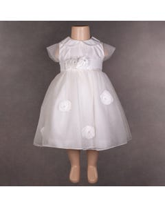 DRESS BB42 IVORY TULLE ROSES