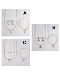 3PC PEARL NECKLACE SET