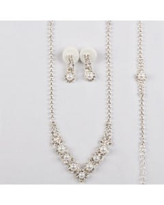 3PC NECKLACE SET RSTONES