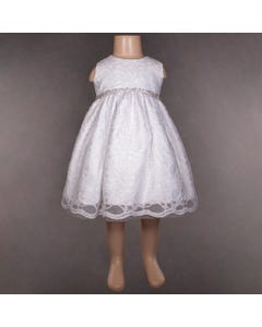 DRESS 326 S L ALOVER LACE WHT