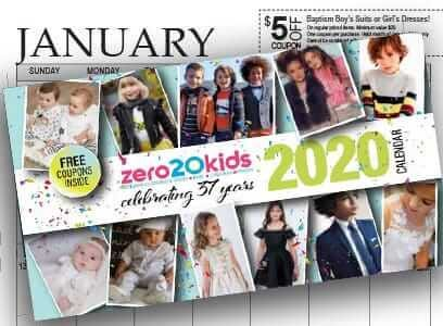 new designer kids wear calendar image
